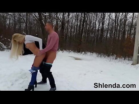 Hot girl fucking in cold Winter Sex In Show Outdoor Sexy Russian Schoolgirl Teen And Mature Daddy Xvideos Com