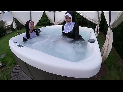 cover video two naughty  nuns get wet in the hot tub