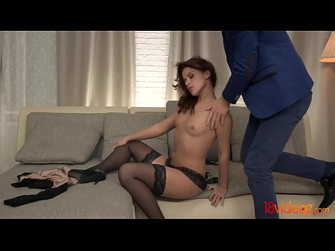 18videoz - This gorgeous babe looks just stunning in her exquisite black dress
