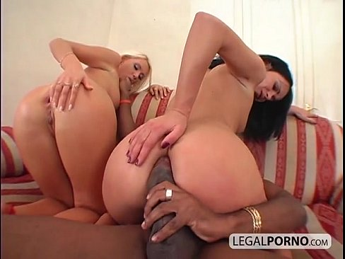 Interracial anal threesome with two hot babes MG-3-04