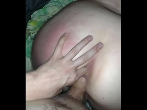 Balls deep in her pussy, knuckle deep in her ass