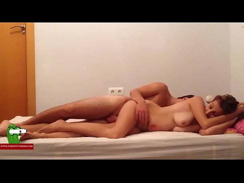 The young boy excites himself with the pussy of his girl and cums on her ass ADR0157's Thumb