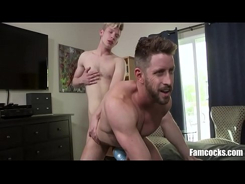 Son Uses Dad While Dad Uses Pocket Pussy-Johnny Ford, Jace Madden