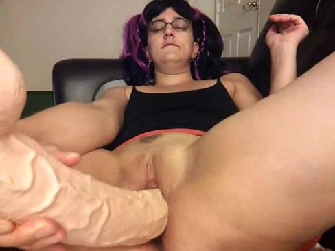 11 inch dildo in my ass