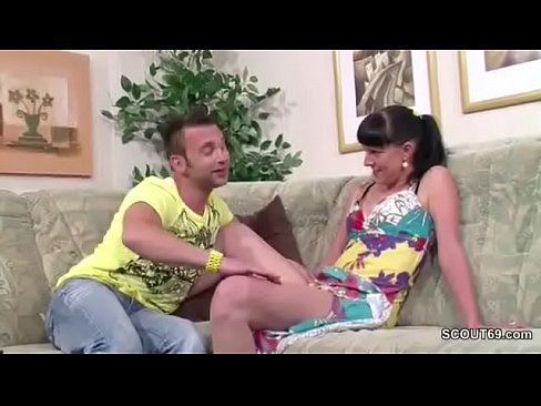 German Step-Bro Seduce Sister to her First Fuck and Facial