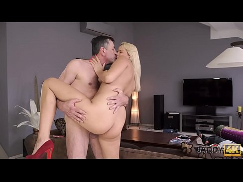 Old4k old man and chesty wife come home only to embark - 1 1