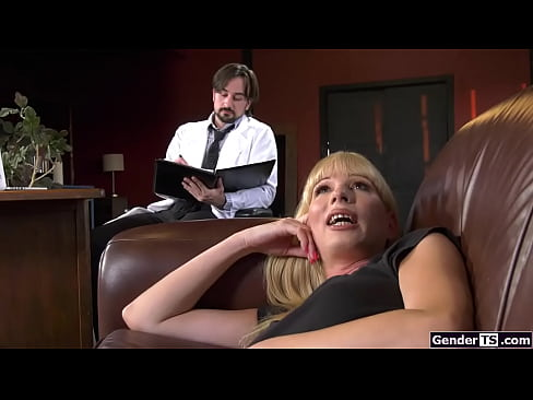 Busty ts Jamie French analed by shrink