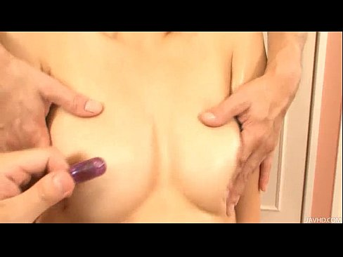 Risa loves having her furry muff slicked down with oil and fingered by two guysXXX Sex Videos 3gp