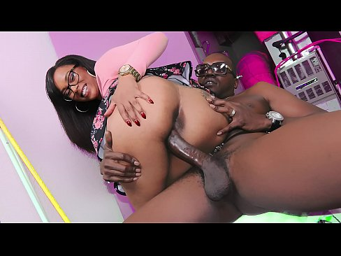 Ebony babe gets her big behind fucked hard