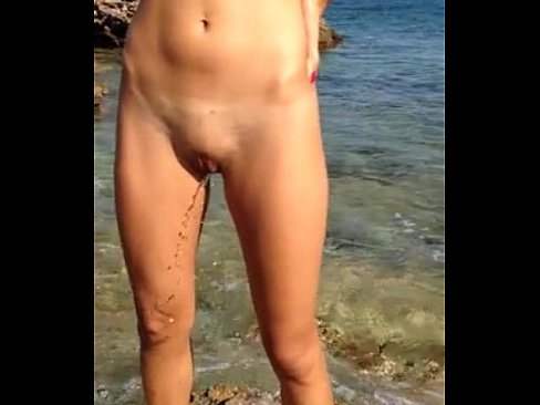 Standing peeing Woman naked