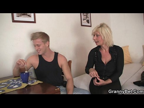 Blonde allows him drill her old snatch 4