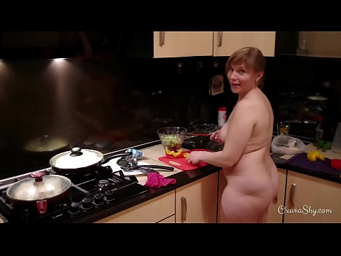 Backstage of my naked cooking