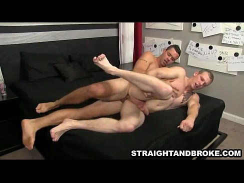 Straight hunk getting fucked hard anally for money