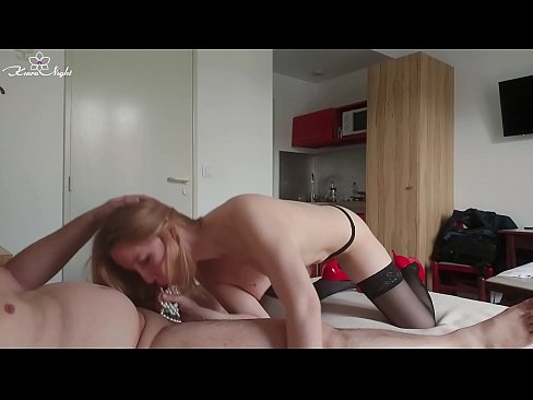 Sexy Blonde in Stockings Deepthroat and Hard Sex