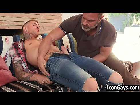 Hot gay guy finally finds his step father - gay dad and son sex