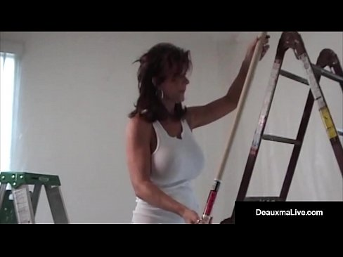 Mature Deauxma & Husband are Painting the house naked & end up Sucking & Fucking Anally! Super Blow Job, Amazing Ball Licking & Asshole Play! FULL VIDEO & Live @DeauxmaLive.com!