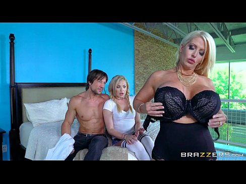 Brazzers – Mom and daughter share cock