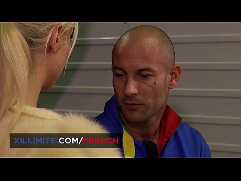 Chloé Lacourt blond French teen anal fucked by mechanic guy