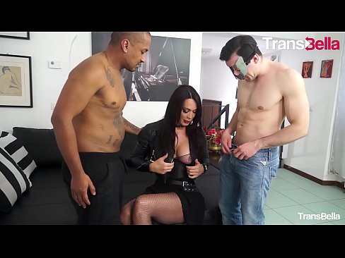 TRANSBELLA - Interracial Threesome Fun With Delicious Big Booty Tranny Erika Lavigne