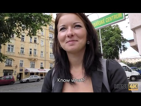 HUNT4K. Hot fucking for money in the capital of Czech Republic