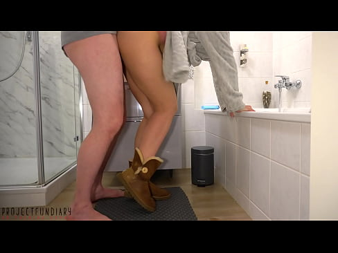 daddy surprises stepdaughter in the bathroom - he uses her and her innocent Ugg boots, projectfundiary
