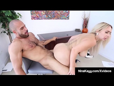 Big Butt Boss Nina Kayy Gets Fucked By Her Big Cock Worker!