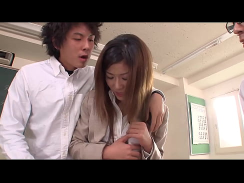 Japanese students find picture of her teacher in sex magazin, so she must fuck them all to keep them quiet, full uncensored JAV movie