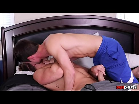 CALVIN BANKS GETS FUCKED RAW BY COLBY CHAMBERS DOUBLE CUM!!!