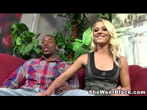 Gorgeous Blonde Cameron Canada fucked Hard by a Huge Black Cock