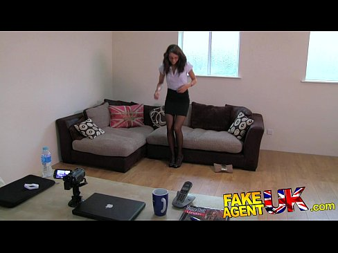 FakeAgentUK Perfect british brunette gets deep creampie on valentine casting