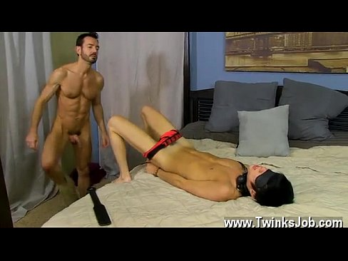 Amateur boy bound gay blaze gets a big 6