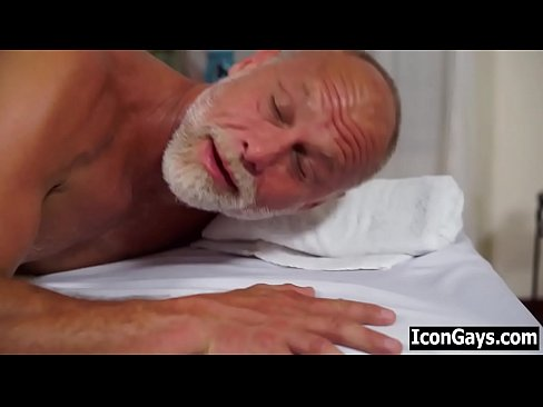Happy ending massage for old gay pervy grandpa