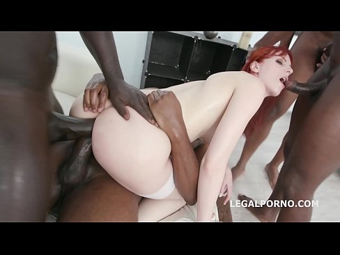 Interracial XXXtreme anal gangbang leaves Alex Harper's asshole destroyed