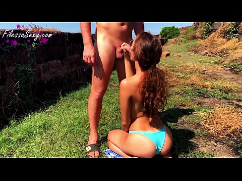 Clip sex Sexy Babe Outdoor Sucking Dick and Dogging Fuck at the Resort