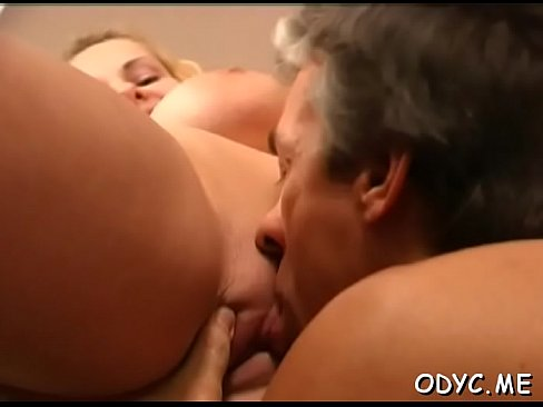 Small titted amateur gets fucked in lots of poses by old man's Thumb