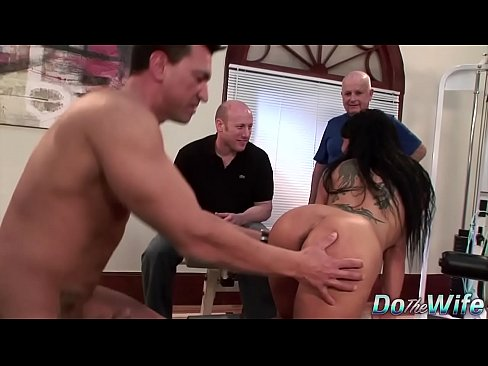 Sexy brunette wife loves anal
