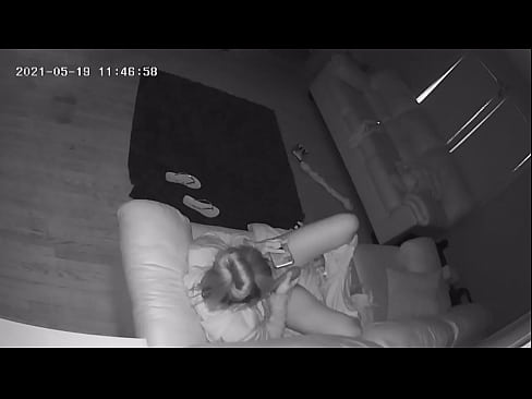 Babysitter Caught Masturbating on Couch with Wife Vibrator Hidden Cam