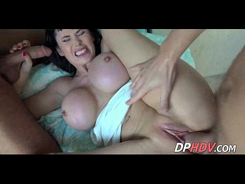 Big tit milf threesome