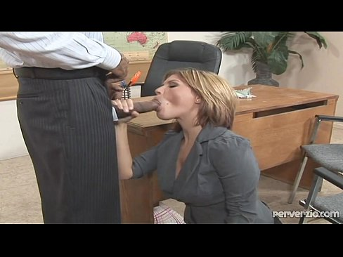 white fucks secretary boss Interracial black