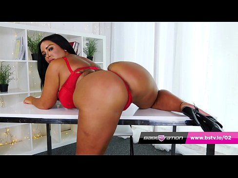 Mia Yasmin showing off the huge booty at Babestation