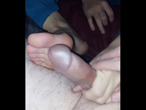 Friends mom stinky spit footjob