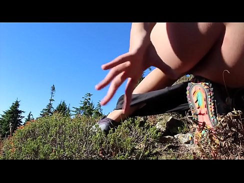 Girl masturbate outdoor