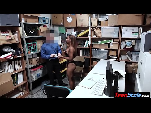 Young black shoplifter banged in her ass by a security guard - XNXX.COM