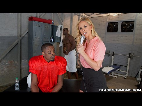 Blonde teacher interracial sex by student 1