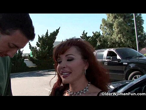 Old milf gets picked up from the parking lot and makes a porn movie