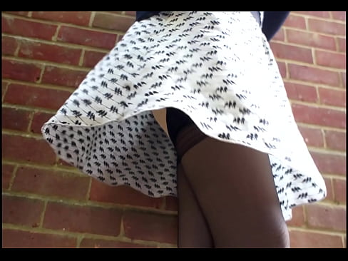 Windy day in stockings