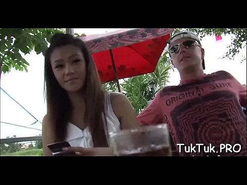 Big pecker rams a sweet thai cunt