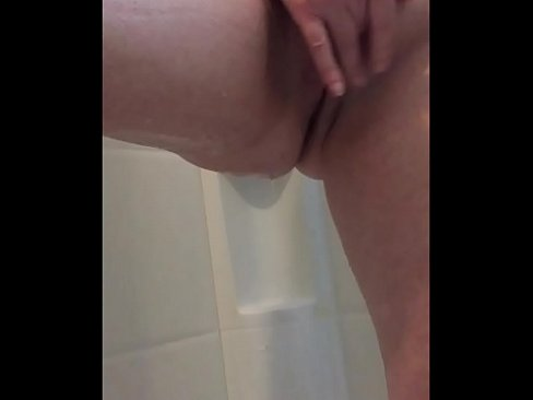 Horny Housewife Mother Fingers Pussy In The Shower