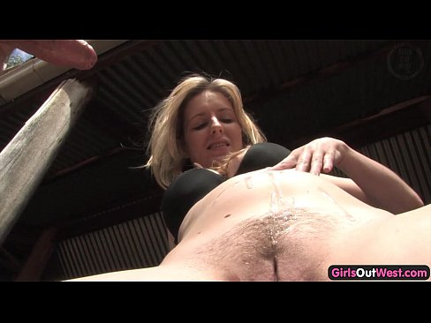 Blonde slut loves getting titty fucked by big black cock in her tight cunt 6