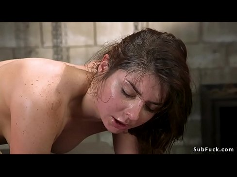 Clip sex Bound brunette is rough anal fucked